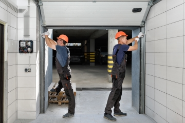 Garage door off track rollers repairs