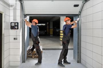 Garage door off track rollers repairs